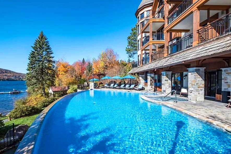 Quebec getaways for couples, romantic spas in Quebec, romantic weekend getaways near Montreal, Mont-Tremblant Quintessense