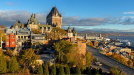 Quebec getaways for couples, quebec city getaways, Old Quebec City skyline