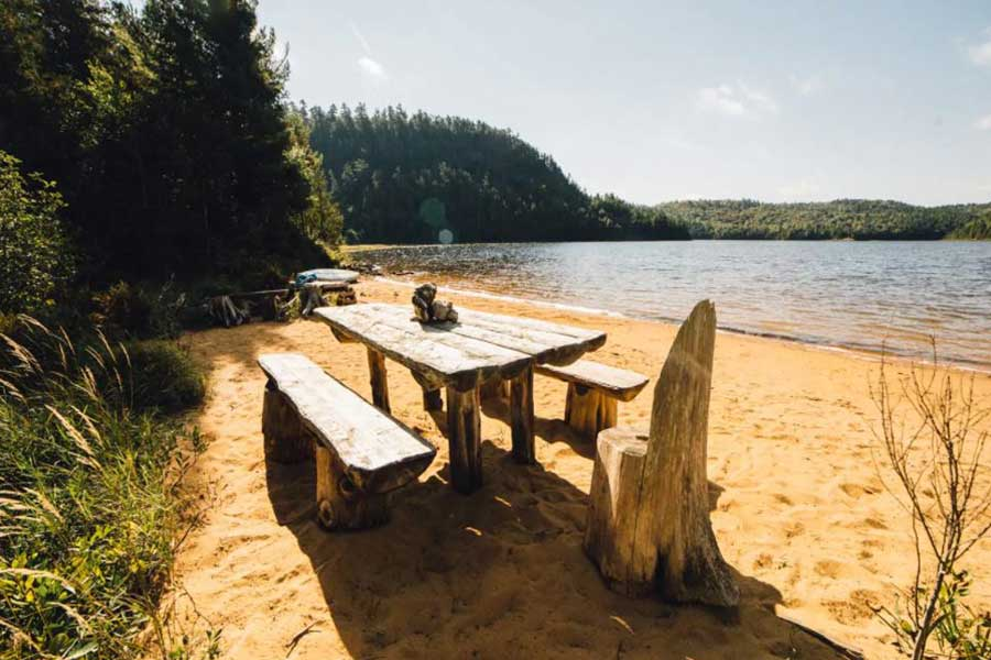 Cabins for romantic getaways in Ontario Canada, lakefront cottage, backcountry adventure, Mississagi Park