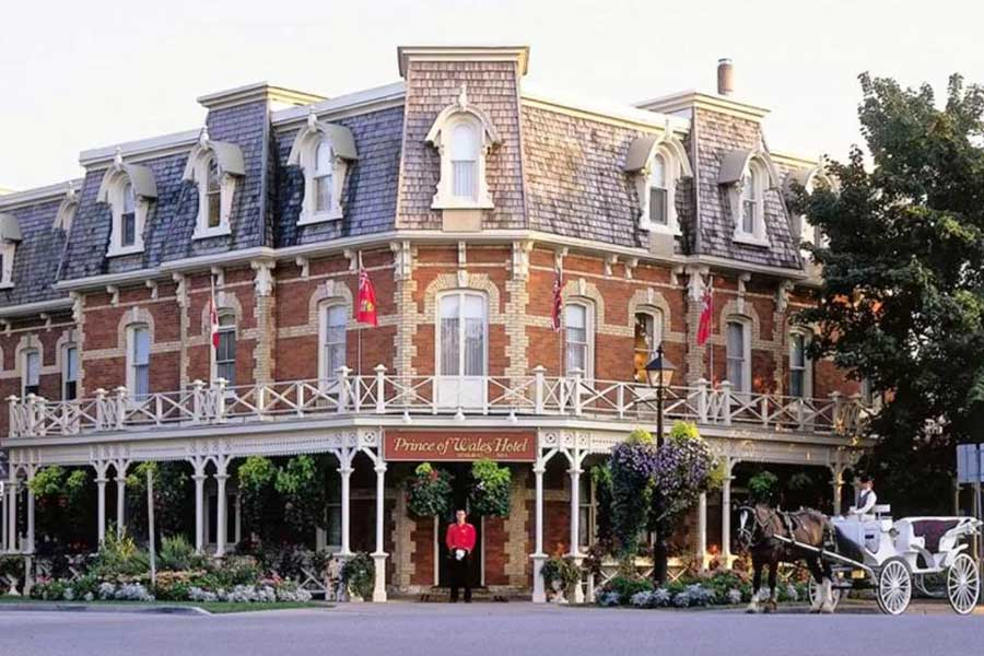 Hotels for romantic getaways in Ontario Canada, Niagara-on-the-Lake, Prince of Wales Hotel