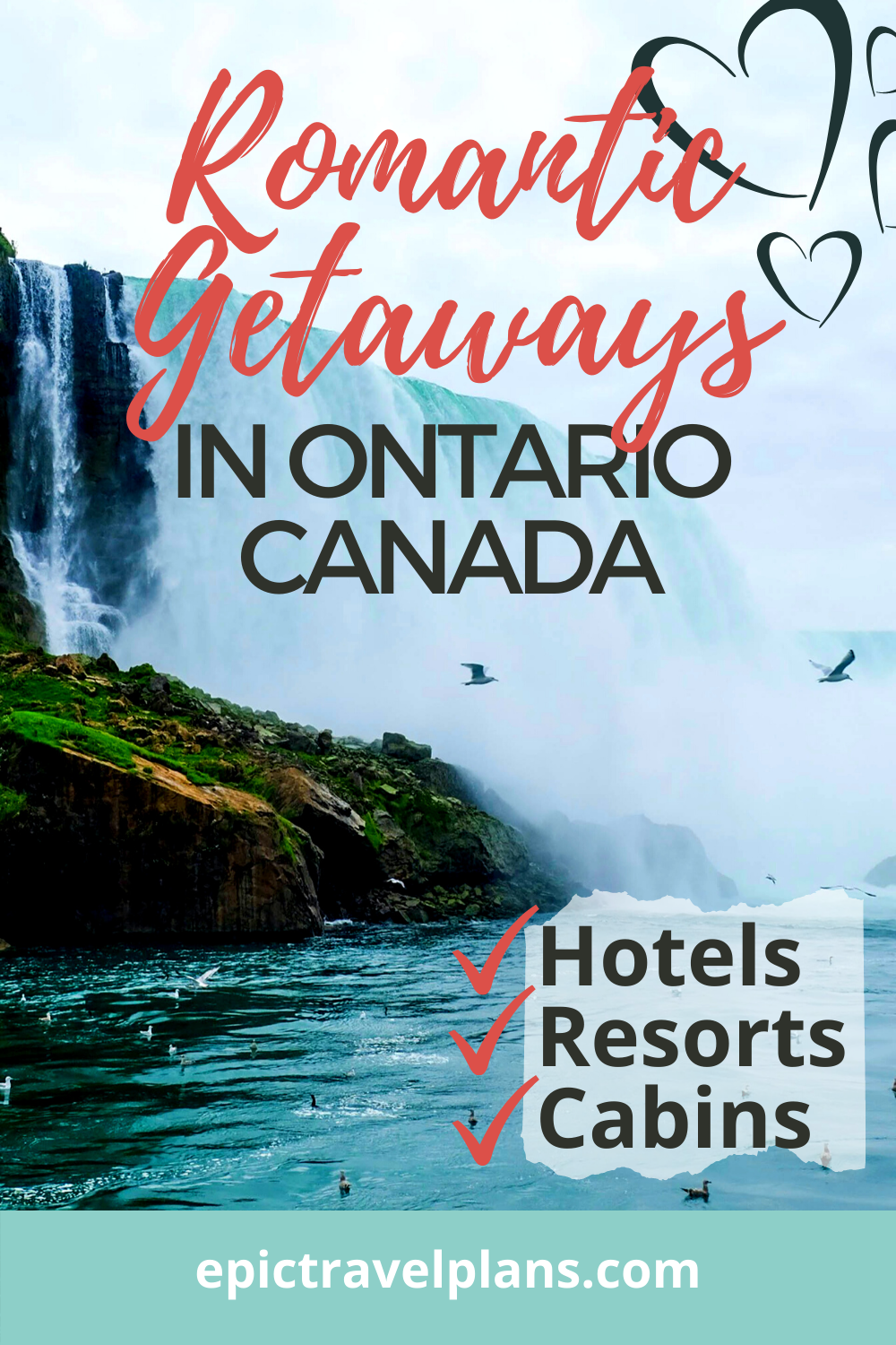 Romantic getaways in Ontario Canada: hotels, resorts and cabins