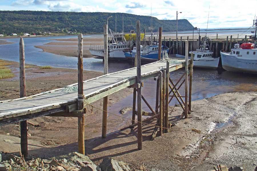 Advocate Harbour Nova Scotia at low tide, East Coast road trip Canada from Toronto to Nova Scotia