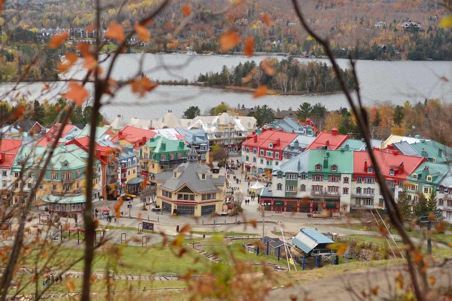 Mont-Tremblant mountain village, East Coast road trip Canada from Toronto to Nova Scotia