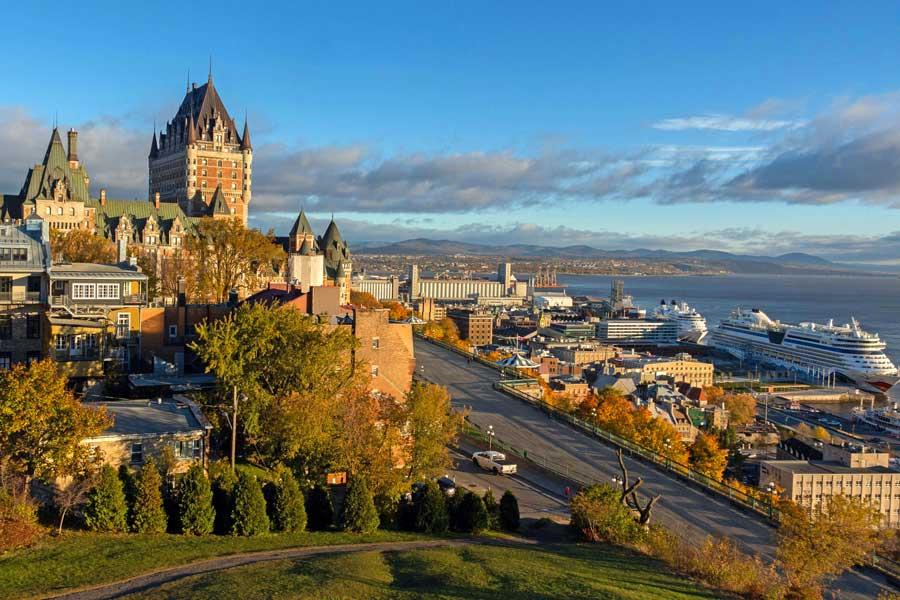 Quebec City skyline, East Coast road trip Canada from Toronto to Nova Scotia