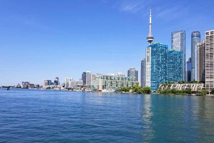 Toronto skyline, road trip Toronto to Nova Scotia Canada