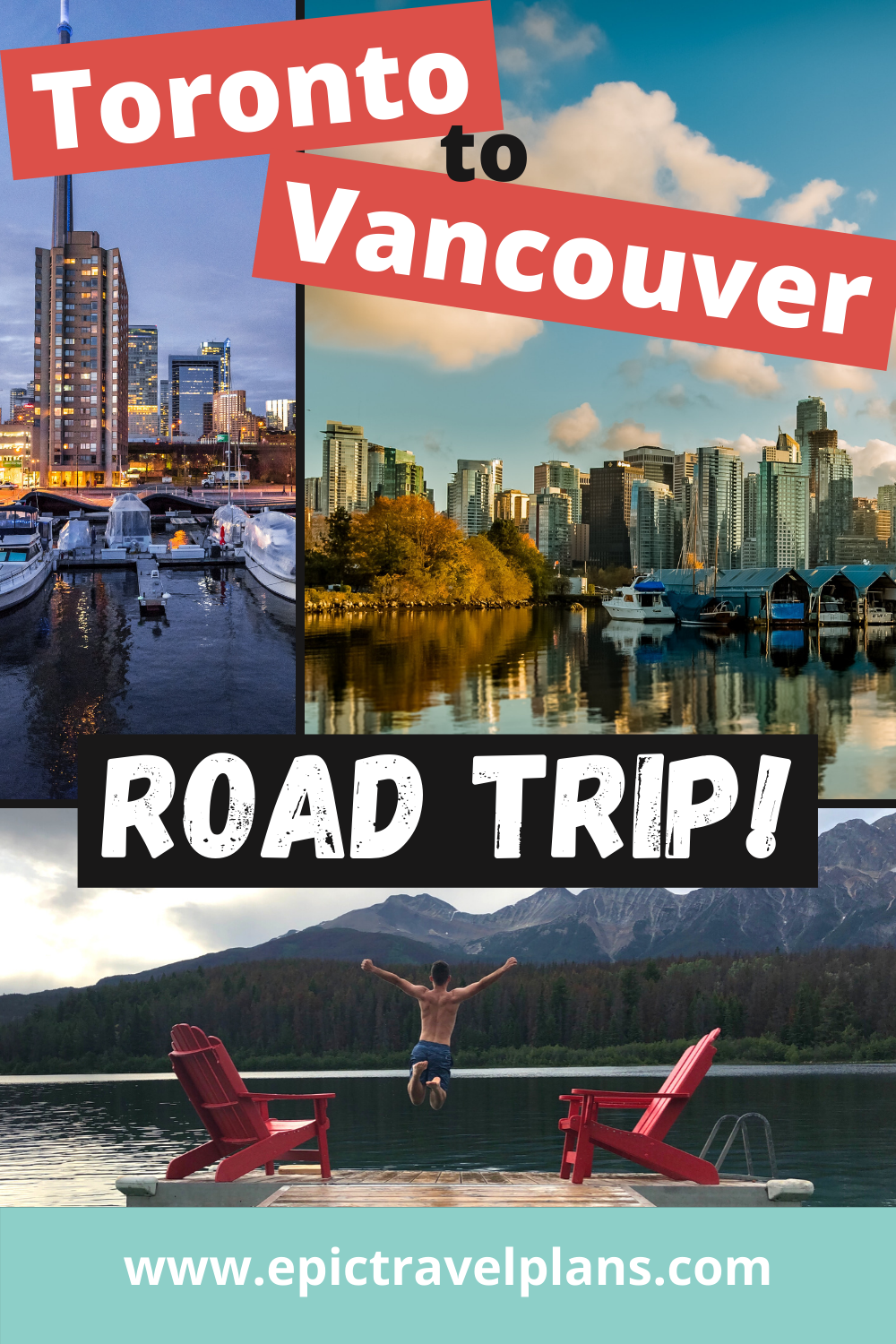 Toronto to Vancouver drive through Canada, cross-Canada road trip map and route ideas