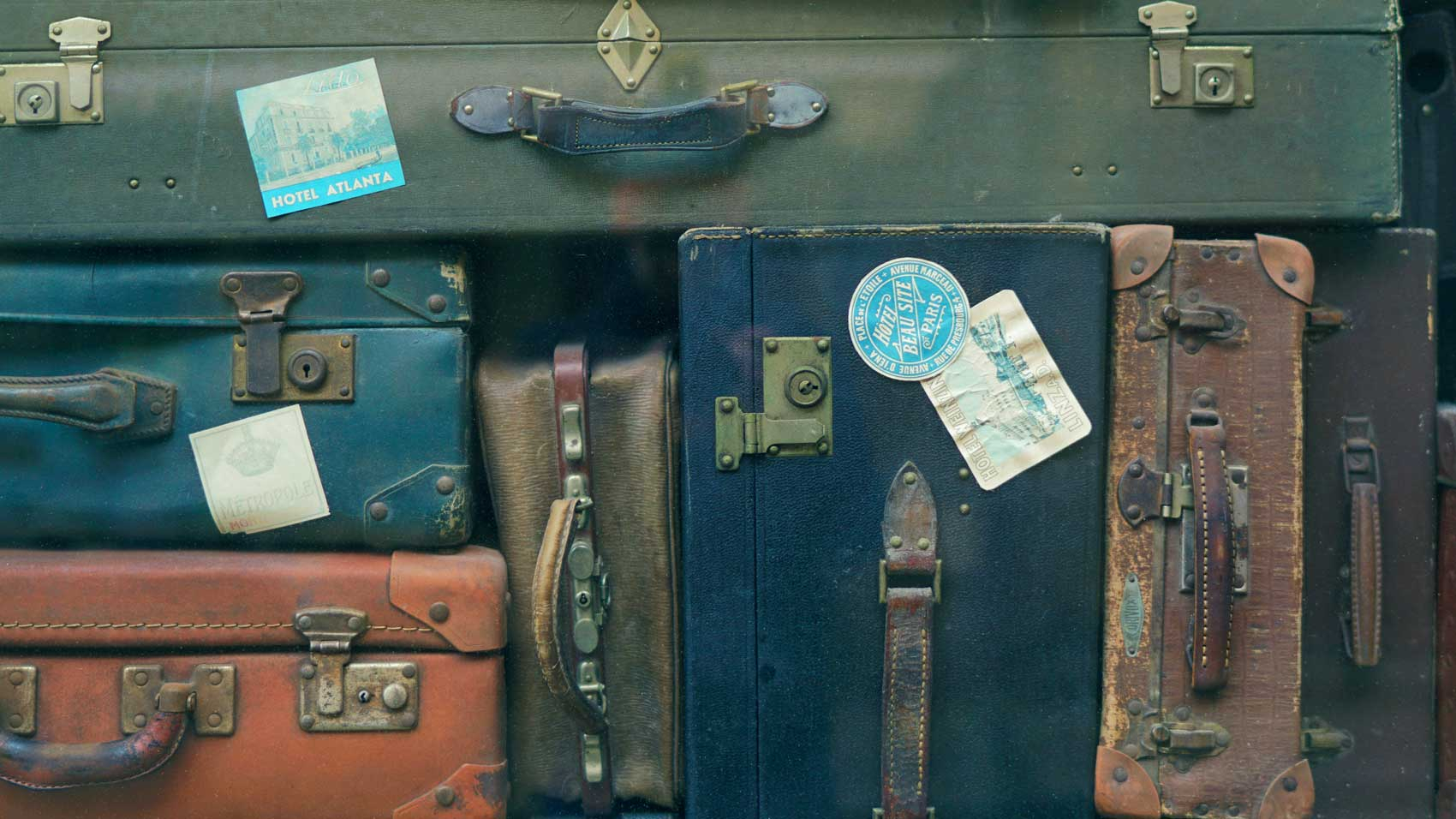 Packed suitcases, trip planning checklist, vacation countdown