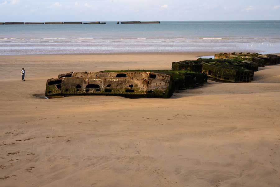 Normandy Beach history, Europe trips with dad, father son or daughter trip ideas
