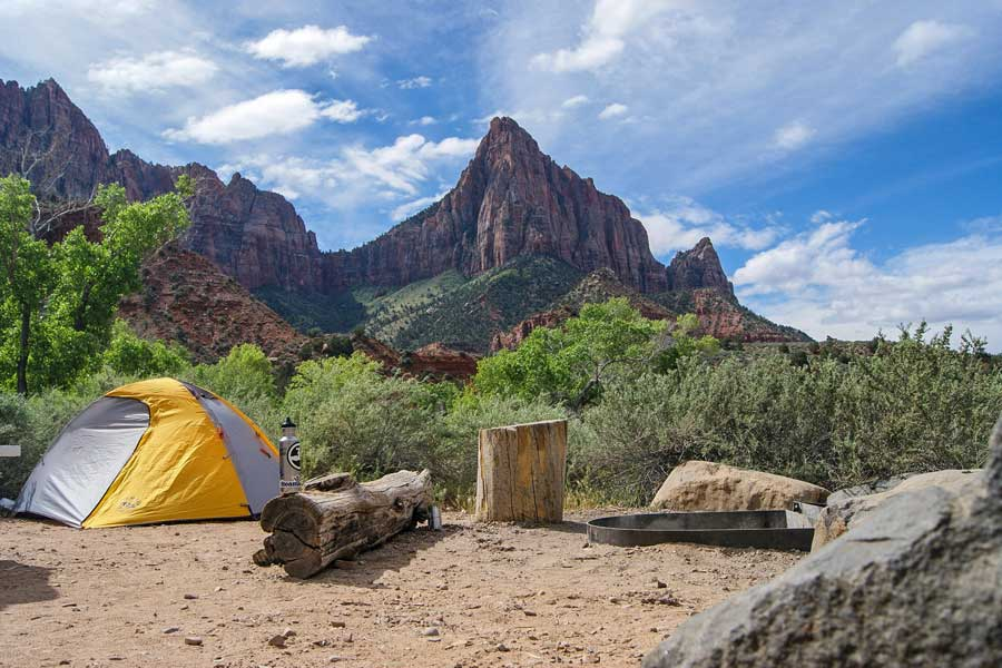 Zion National Park, camping trips with dad, father son or daughter trip ideas USA