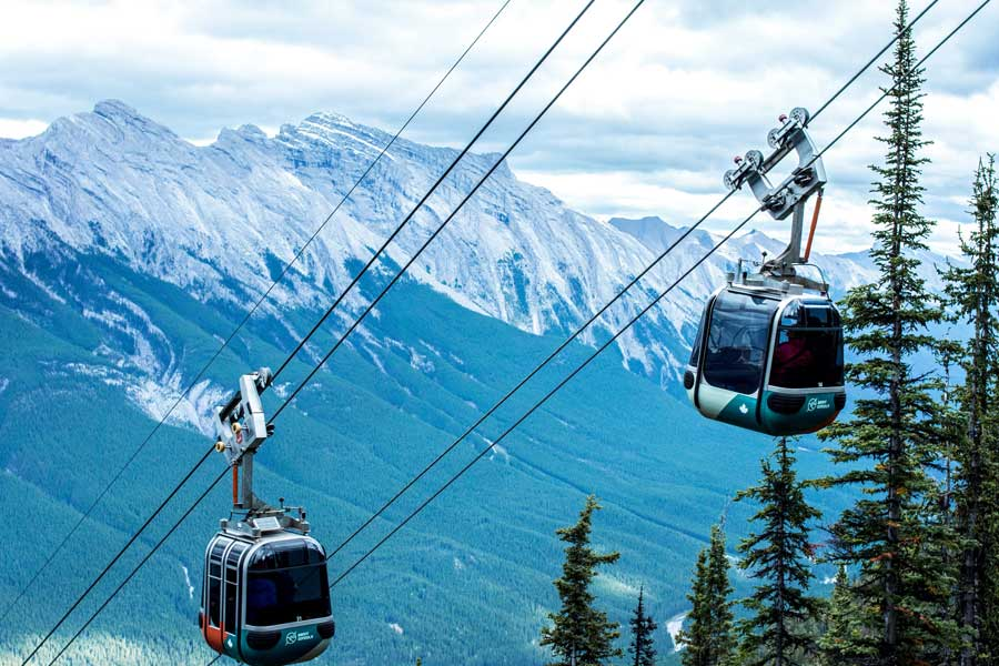 Rocky Mountain gondolas, best trips with mom Canada, places to go for mother daughter trips, road trips