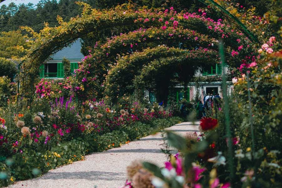Monet flower garden France, best trips with mom, places to go for mother daughter trips of a lifetime