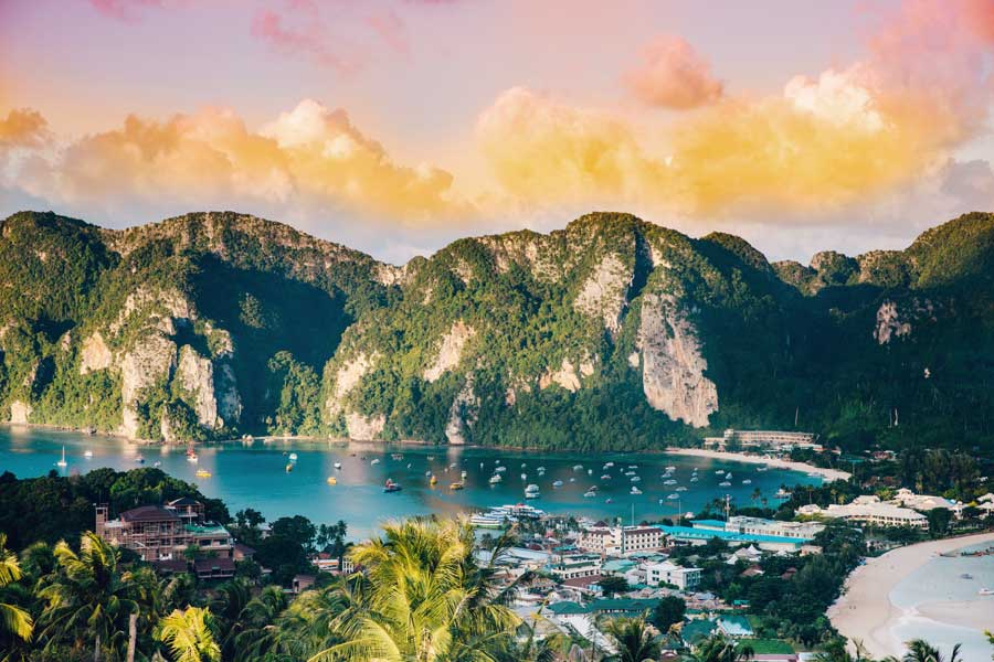 Phi Phi Islands Thailand, best trips with mom, places to go for mother daughter trips of a lifetime