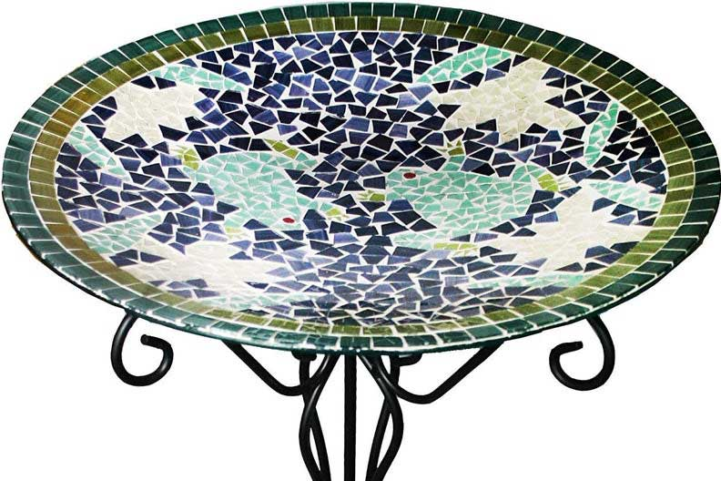 Bird bath, outdoor decor items for travel lovers