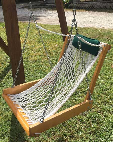 Hammock swing, outdoor decor items for travel lovers