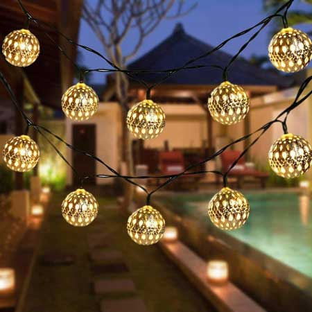 Outdoor lighting, string lights, backyard travel decor ideas
