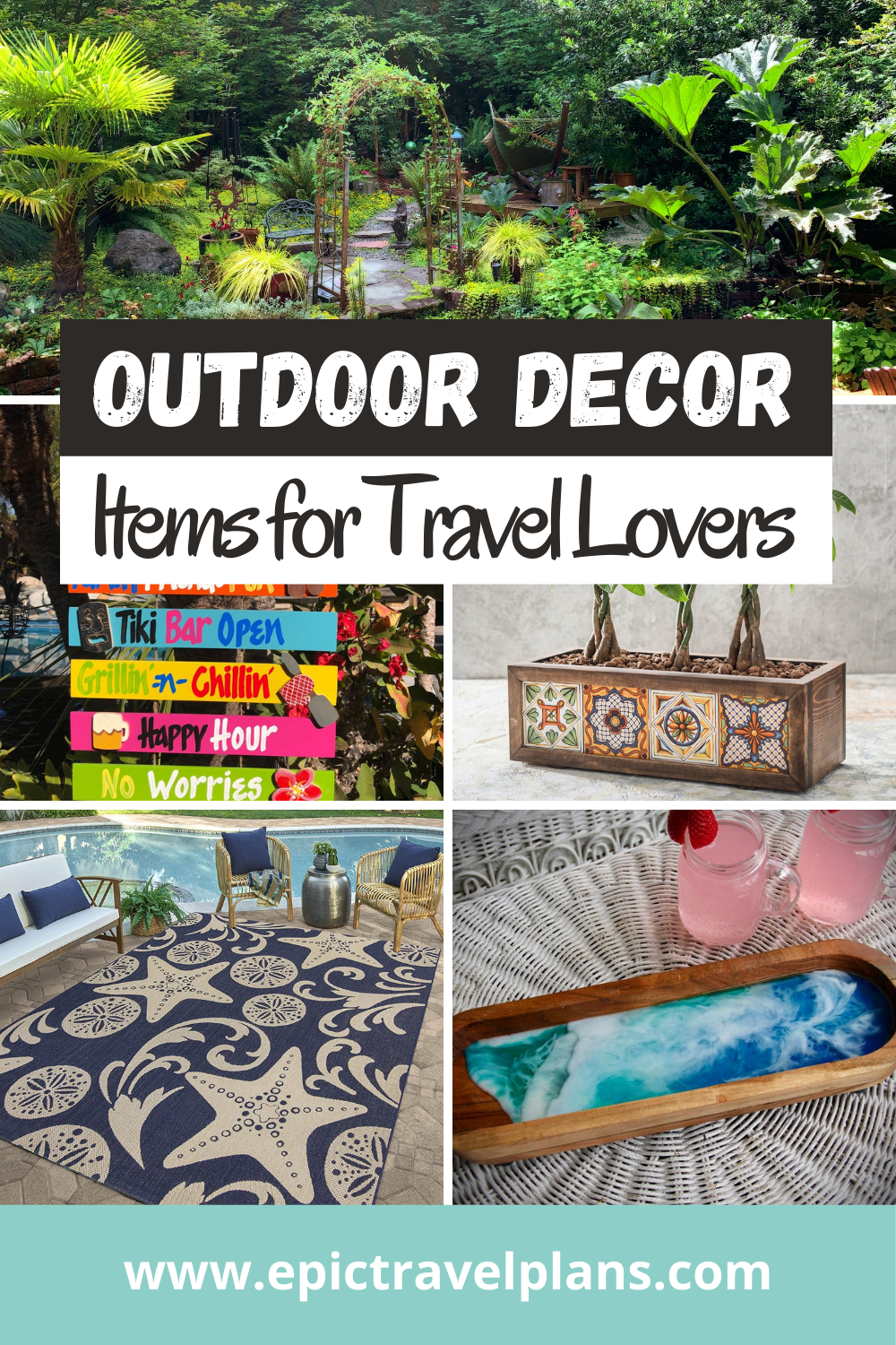 Inspiring outdoor decor items for travel lovers