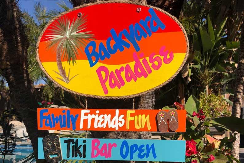 Hawaii tiki bar sign, outdoor decor items for travel lovers