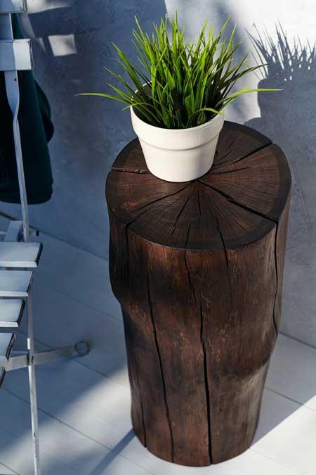 Outdoor coffee table, backyard travel decor ideas