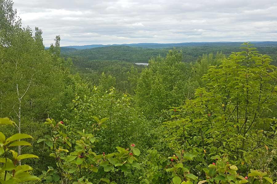 Lookout at Silver Falls hike near Thunder Bay Ontario
