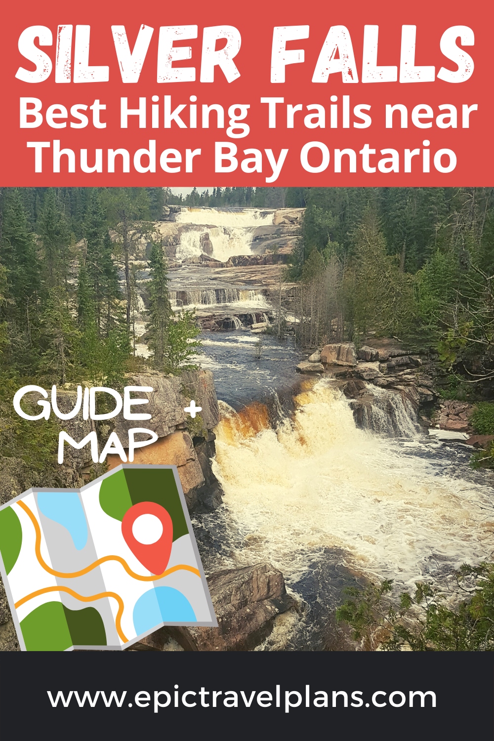 Silver Falls hike near Thunder Bay Ontario, Best hiking trails in Northern Ontario Canada, beautiful waterfalls in Canada