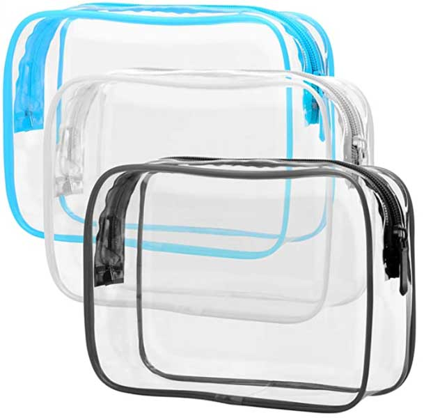 Clear travel pouch, small travel accessory bags, makeup bag, Packism