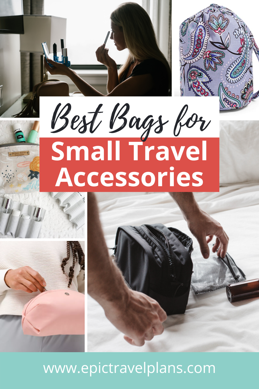 Best small travel accessory bags, makeup pouches, dopp kits