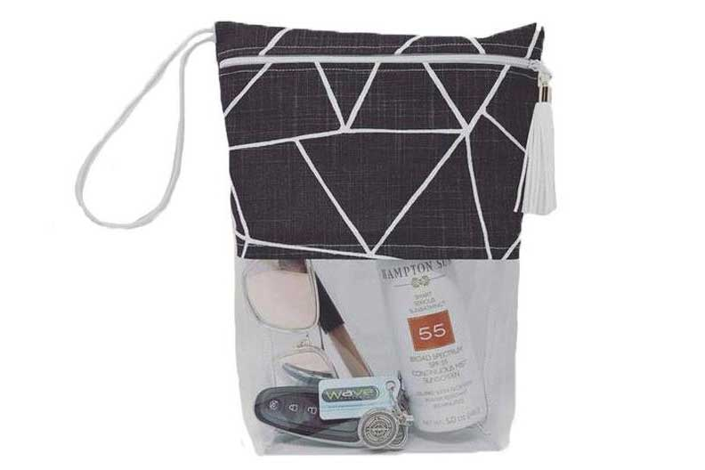 Clear pouch, small travel kit bag, makeup bag, Rilos and Mimi Etsy shop