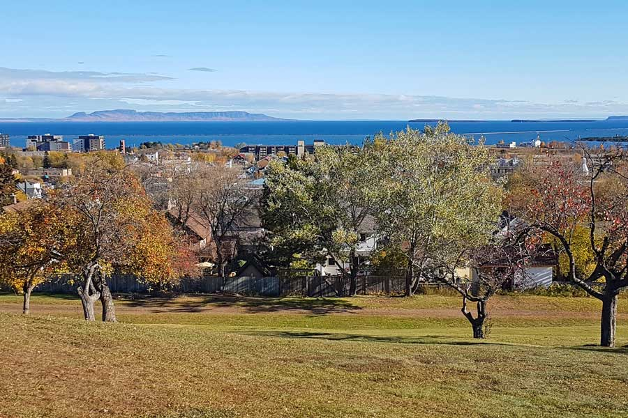 Sleeping Giant view from Thunder Bay Ontario