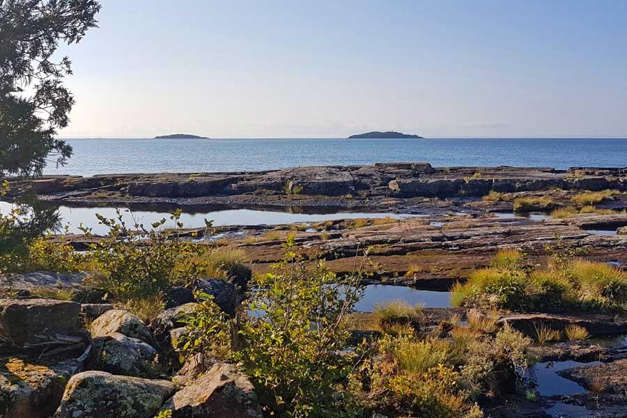 Tee Harbour, Sleeping Giant hiking trails near Thunder Bay Ontario