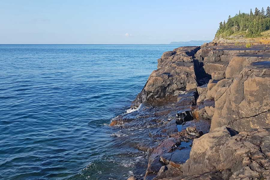 Tee Harbour Lookout, Sleeping Giant hiking trails near Thunder Bay Ontario