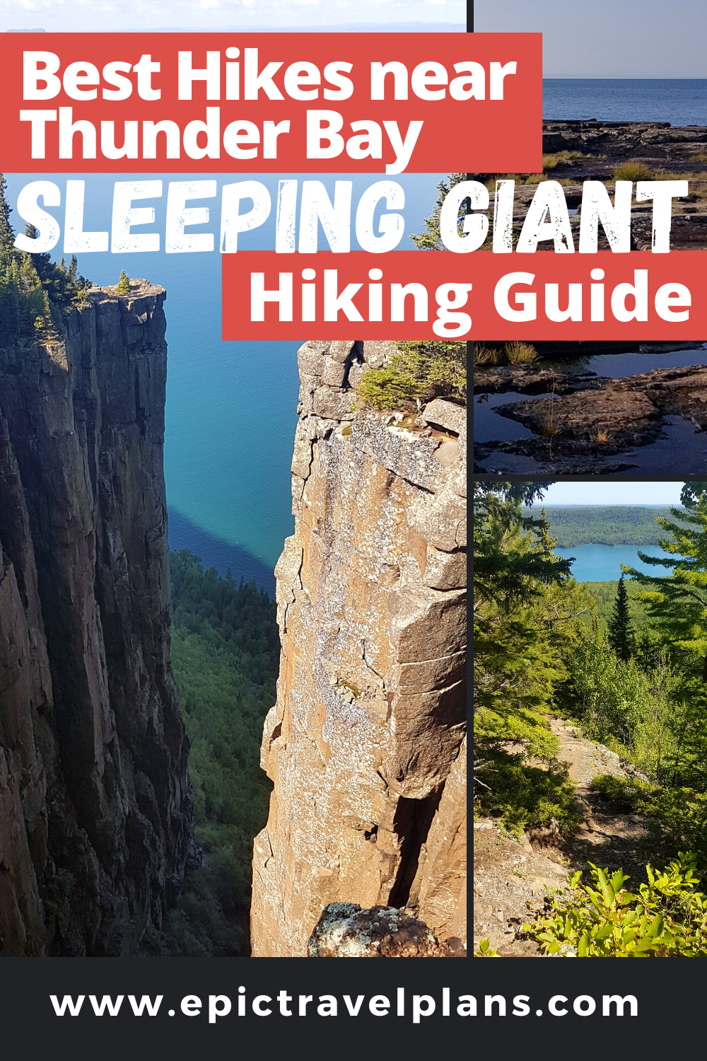 Best hikes at Sleeping Giant Provincial Park, Northern Ontario hiking guide with map