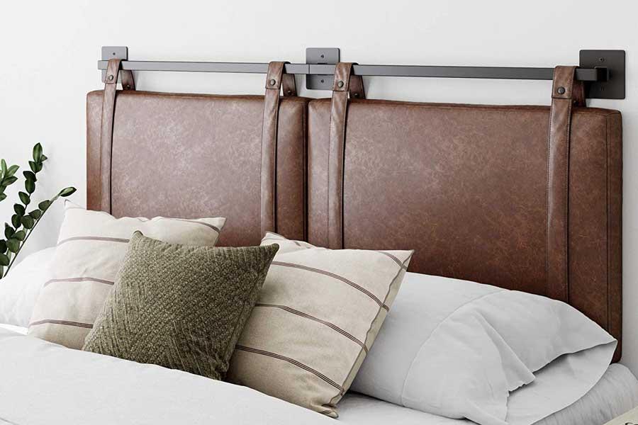 Leather headboard, bedroom decor wall ideas furniture, travel decor