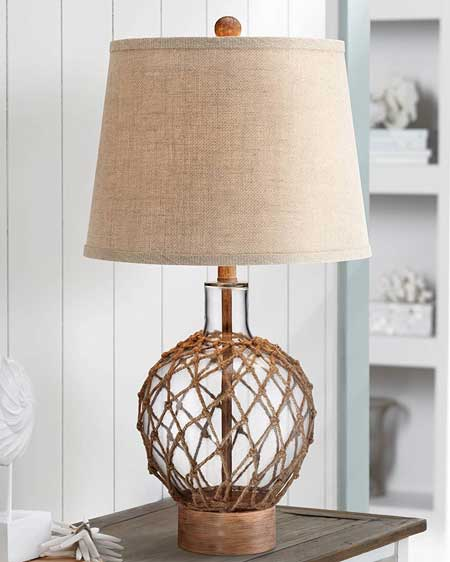 Nautical table lamp, bedroom decor lamps, travel decor for bedroom