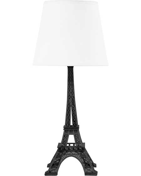 Eiffel Tower table lamp, bedroom decor lamps, travel decor for bedroom