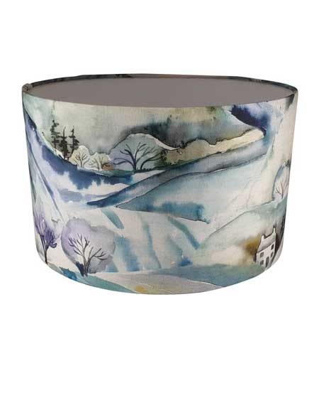 Scenic lamp shade, bedroom decor lamps, travel decor for bedroom