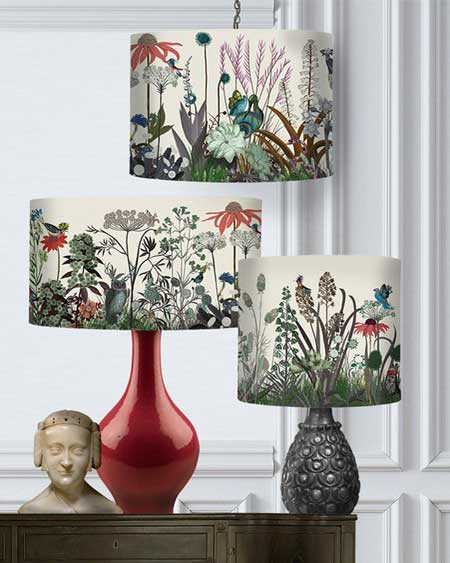 Floral lamp shade, bedroom decor lamps, travel decor for bedroom