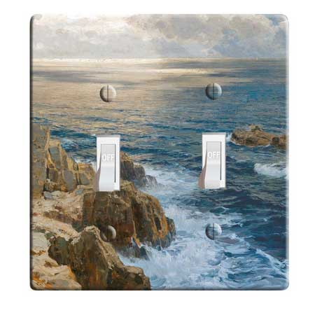 Travel themed electrical cover, bedroom decor wall ideas, travel decor