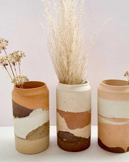 Bedroom decor vases art, travel decor for bedroom