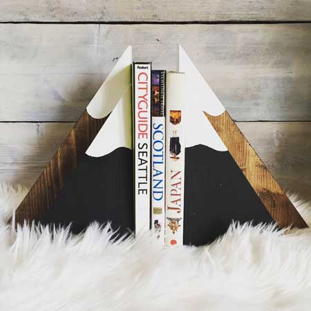 Rustic bookends cabin warming gift idea, gifts for cabin owners