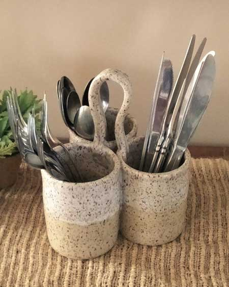 Cutlery caddy gifts for cabin owners, cabin warming gifts