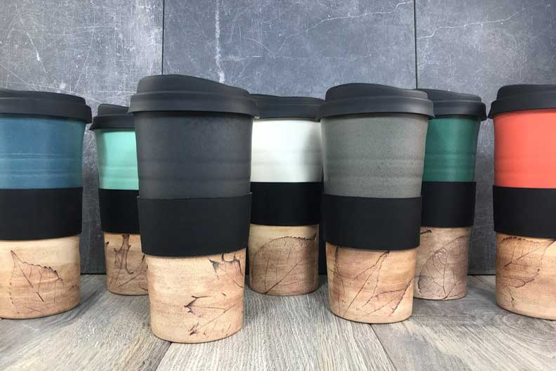 Rustic travel mug with lid cabin warming gifts, cabin gift basket ideas