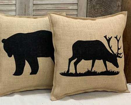 Cabin decor pillows, gifts for cabin owners