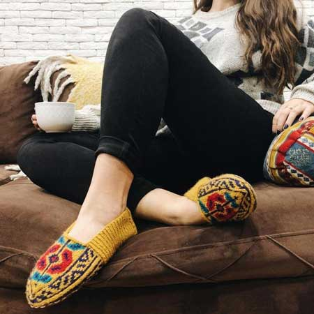 Colorful slipper socks, cabin warming gifts, cool things for cabins