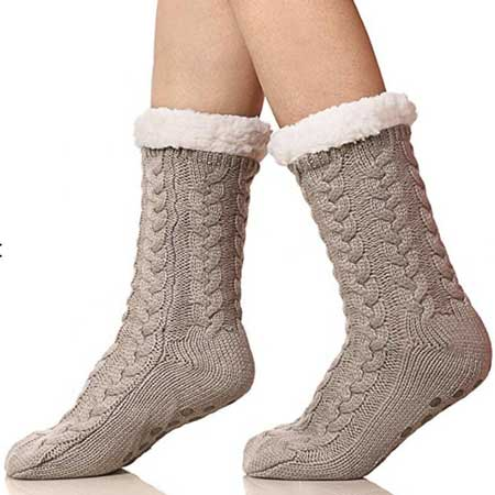 Knit slipper socks, cabin warming gifts, cool things for cabins