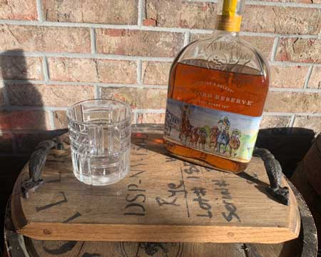 Whisky barrel wood tray, cabin warming gifts, cool things for cabins