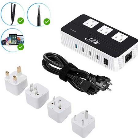 Voltage converter for travel, techy travel accessories for women