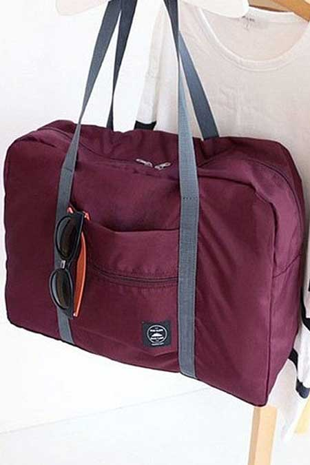 Foldup duffel bag, cute travel accessories for women