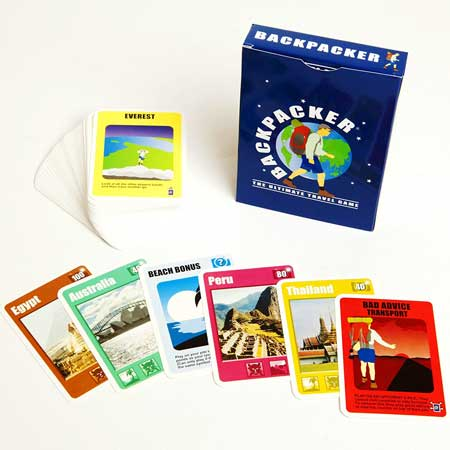 Backpackers card travel game, fun travel accessories for women
