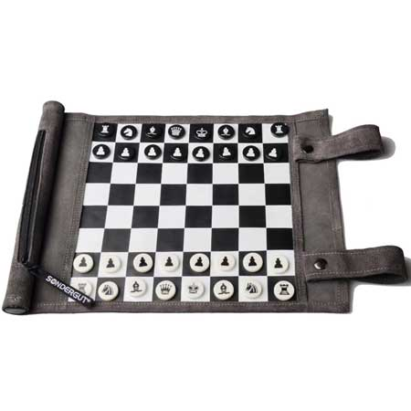 Rollup chess travel game, unique travel accessories for women