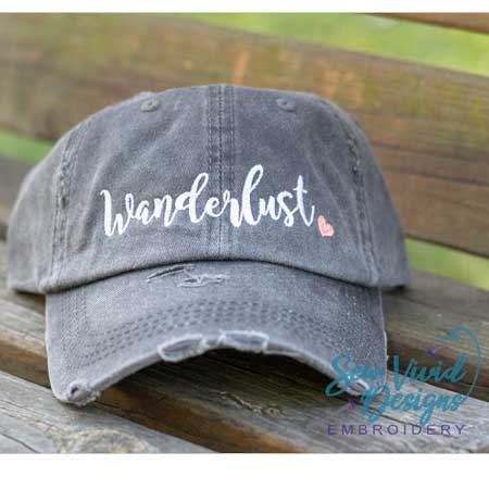 Distressed ballcap, cute travel accessories for women